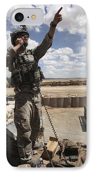 U.s. Air Force Member Calls For Air Phone Case by Stocktrek Images