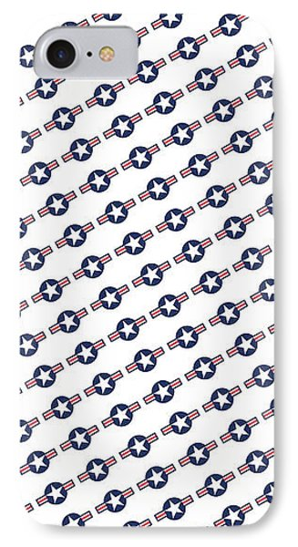 IPhone Case featuring the digital art Us Airforce Style Insignia Pattern Diag Version by Bruce Stanfield