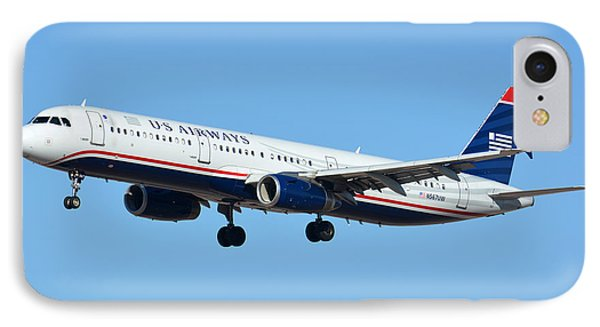Us Airways Airbus A321-231 N567uw Phone Case by Brian Lockett