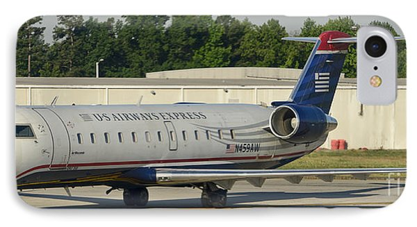 Us Airways Express Jet Plane IPhone Case by David Oppenheimer