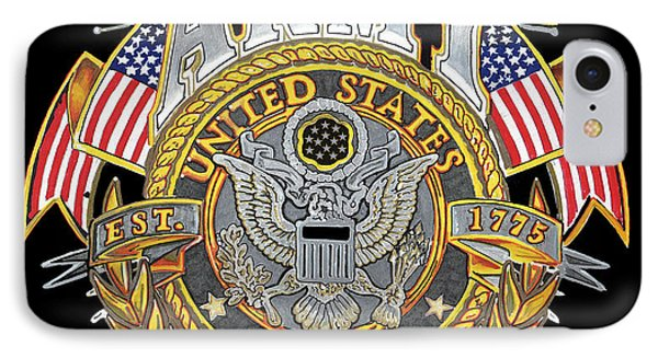 Us Army Phone Case by Bill Richards
