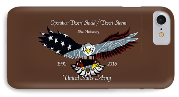 Us Army Desert Storm Phone Case by Bill Richards