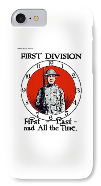 Us Army First Division - Ww1 IPhone Case by War Is Hell Store