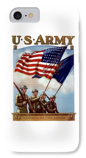 Us Army -- Guardian Of The Colors Phone Case by War Is Hell Store