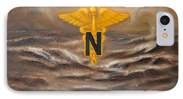 IPhone Case featuring the painting U.s. Army Nurse Corps Desert Storm by Marlyn Boyd