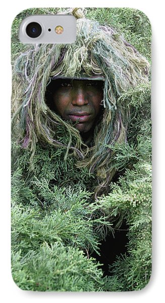 U.s. Army Soldier Demonstrates The Use Phone Case by Stocktrek Images