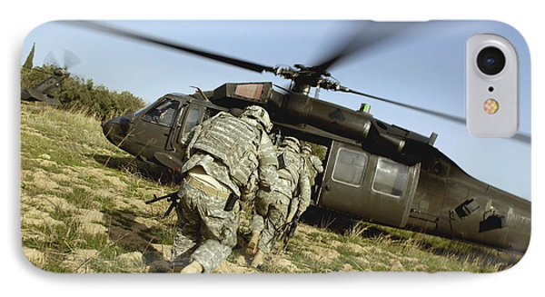 U.s. Army Soldiers Prepare To Board IPhone Case by Stocktrek Images