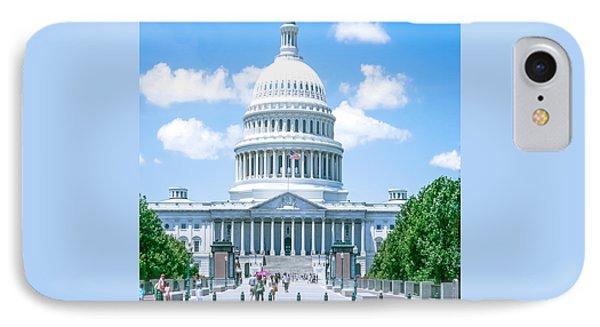Us Capitol Building IPhone Case by Art Spectrum