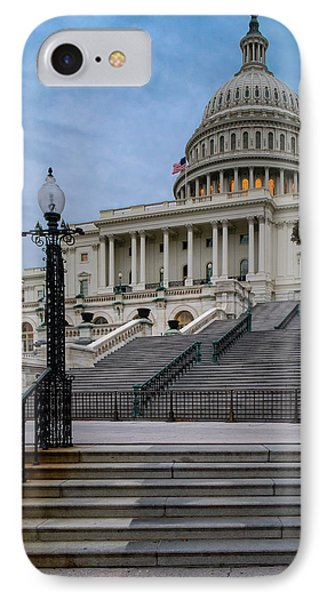 IPhone Case featuring the photograph Us Capitol Building Twilight by Susan Candelario