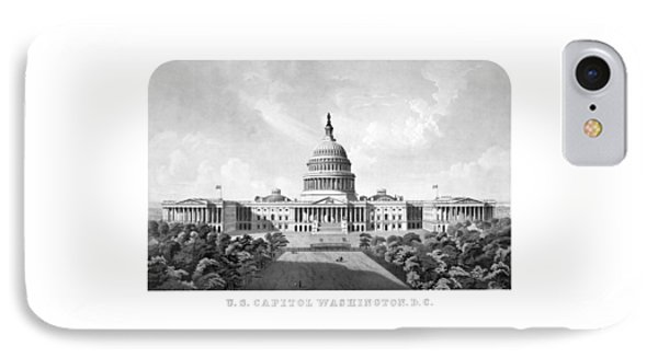 Capitol Building iPhone 7 Case - Us Capitol Building - Washington Dc by War Is Hell Store