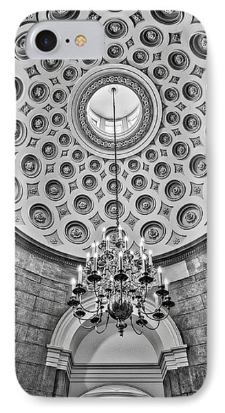 IPhone Case featuring the photograph Us Capitol Rotunda Washington Dc Bw by Susan Candelario
