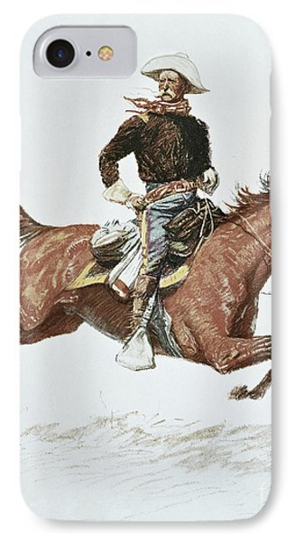 Us Cavalry Officer In Campaign Dress Of The 1870s IPhone Case