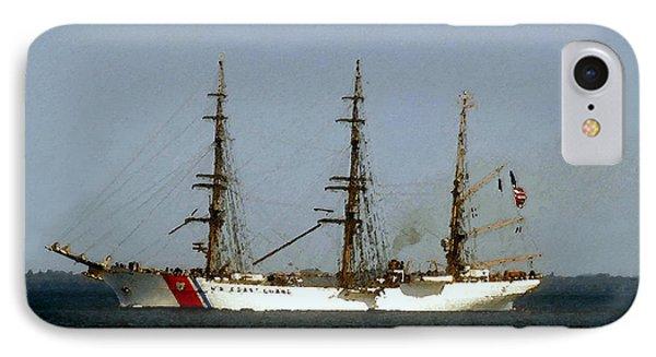U.s. Coast Guard Eagle IPhone Case by David Lee Thompson