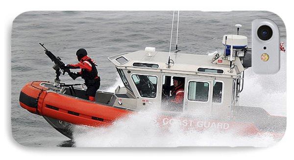 U.s. Coast Guardsmen Aboard A Security Phone Case by Stocktrek Images