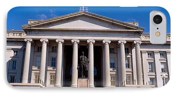 U.s. Department Of Treasury With Statue IPhone Case by Panoramic Images