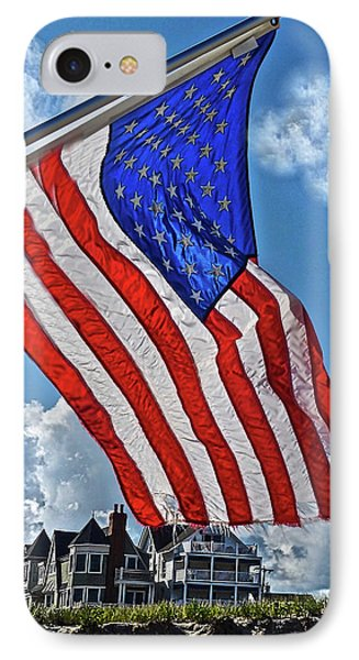Us Flag,ocean Grove,nj Flag IPhone Case by Joan Reese