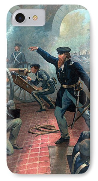 U.s. Grant At The Capture Of The City Of Mexico IPhone Case by War Is Hell Store