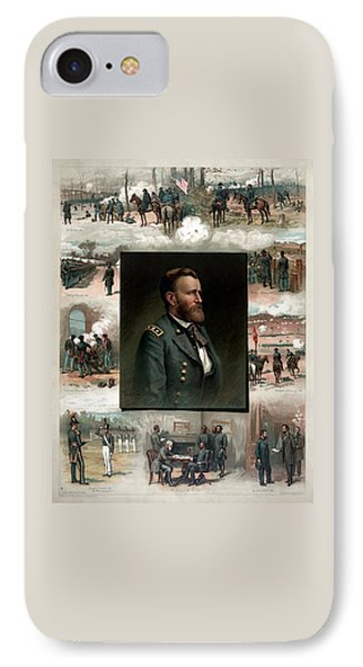 Us Grant's Career In Pictures IPhone Case by War Is Hell Store