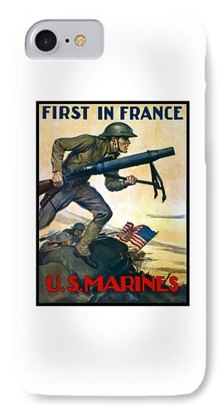 Us Marines - First In France IPhone Case