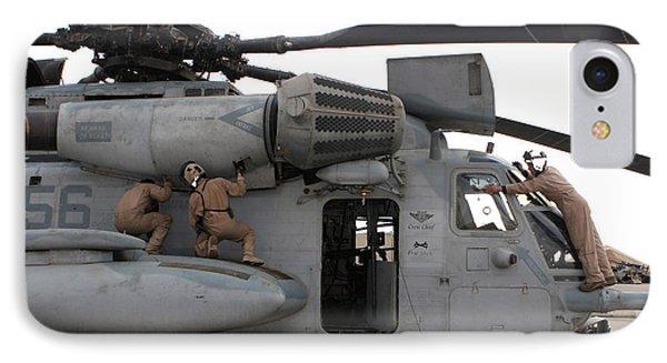 U.s. Marines Perform Preflight Checks IPhone Case