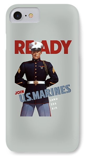 Us Marines - Ready Phone Case by War Is Hell Store