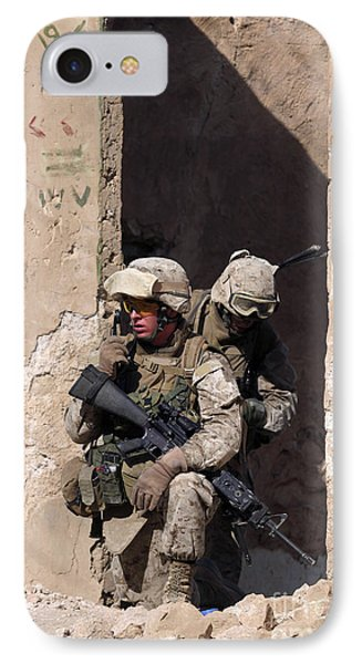 U.s. Marines Taking Cover In An IPhone Case