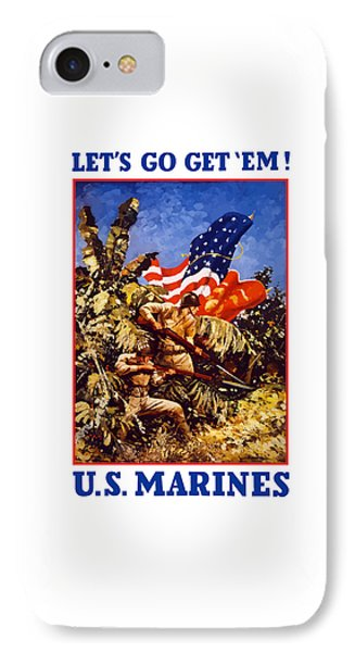 Us Marines - Ww2  IPhone Case by War Is Hell Store