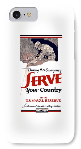Us Naval Reserve Serve Your Country IPhone Case by War Is Hell Store