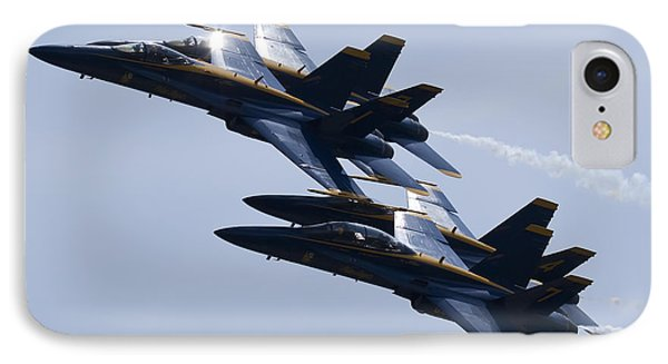 Us Navy Blue Angels In Formation IPhone Case by Dustin K Ryan