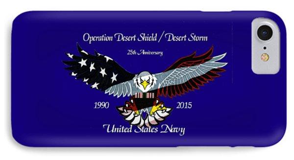 Us Navy Desert Storm Phone Case by Bill Richards