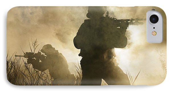 U.s. Navy Seals During A Combat Scene Phone Case by Tom Weber