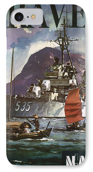U.s. Navy Travel Poster Phone Case by Granger