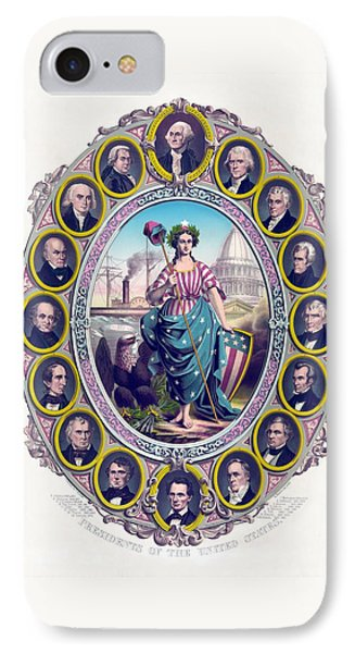 Us Presidents And Lady Liberty  Phone Case by War Is Hell Store