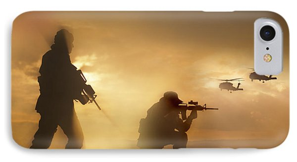 U.s. Special Forces Provide Security IPhone Case by Tom Weber