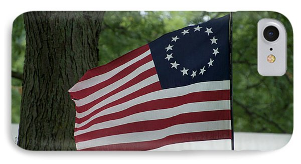 Usa Betsy Ross 13 Star Flag IPhone Case by Thomas Woolworth