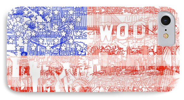 Usa Flag 1 IPhone Case