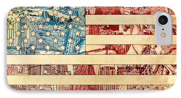 Usa Flag 2 IPhone Case