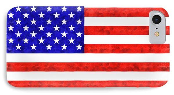 Usa Flag  - Acrylic Style -  - Pa IPhone Case by Leonardo Digenio