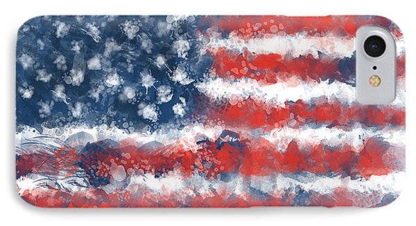 Usa Flag Brush Strokes IPhone Case