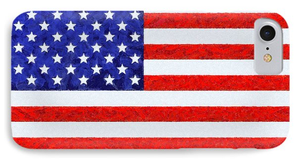 Usa Flag  - Camille Style -  - Pa IPhone Case by Leonardo Digenio