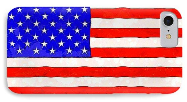 Usa Flag  - Van Gogh Style -  - Pa IPhone Case by Leonardo Digenio