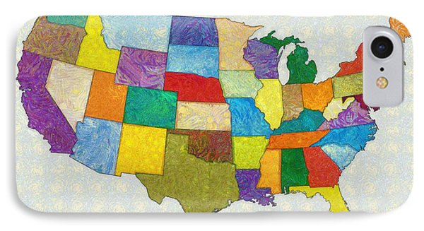 Usa Map - Pa IPhone Case