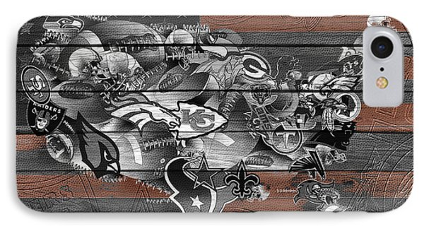 Usa Nfl Map Collage 4 IPhone Case