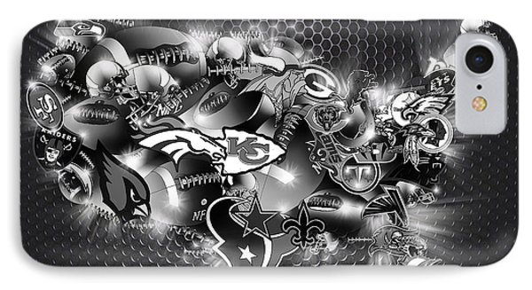 Usa Nfl Map Collage 7 IPhone Case