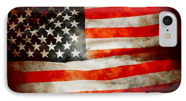 Usa Old Glory Patriot Flag IPhone Case by Phill Petrovic