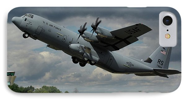 IPhone Case featuring the photograph Usaf Lockheed-martin C-130j-30 Hercules  by Tim Beach