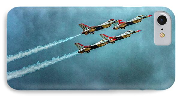 Usaf Thunderbirds IPhone Case by Bill Gallagher