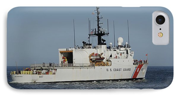 IPhone Case featuring the photograph Uscgc Escanaba Heads To Sea by Bradford Martin