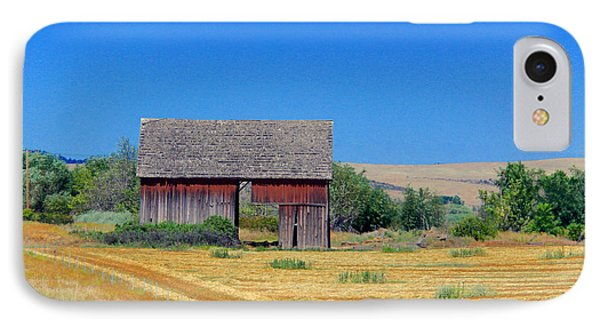 Used To Be Red Barn IPhone Case by Susan Crossman Buscho