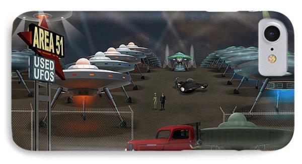 Area 51 Used U F O S Phone Case by Mike McGlothlen